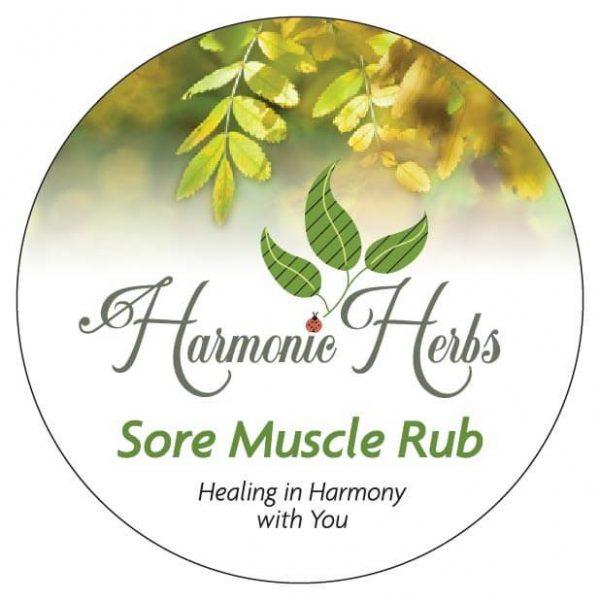 Harmonic Herbs Sore Muscle Rub Lid Graphic