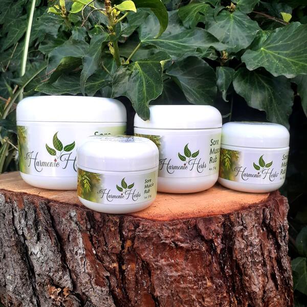 Sore Muscle Rub Salve Family from Harmonic Herbs